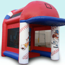 inflatable speed pitch game