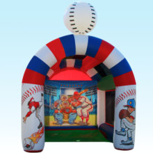 Speed pitch inflatable with baseball