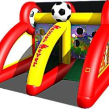Soccer kick two lane inflatable