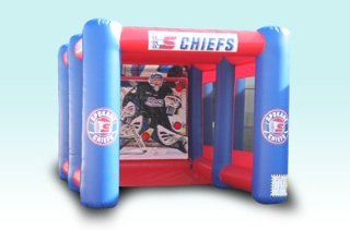 Hockey radar shot inflatable